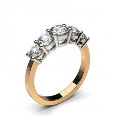 4 Prong Setting Plain Five Stone Ring - CLRN248_02