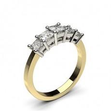 4 Prong Setting Plain Five Stone Ring - CLRN248_01