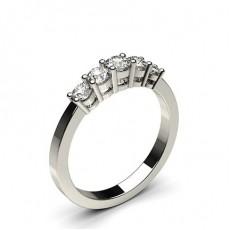 4 Prong Setting Plain Five Stone Ring - CLRN248_04