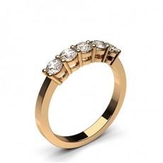 Bague 5 pierres diamant rond serti 4 griffes - CLRN249_01