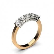 4 Prong Setting Plain Five Stone Ring - CLRN249_01