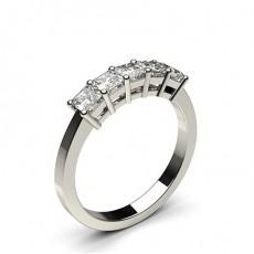 Bague 5 pierres diamant princesse serti 4 griffes - CLRN249_02