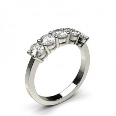 4 Prong Setting Plain Five Stone Ring - CLRN249_06