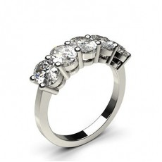 4 Prong Setting Plain Five Stone Ring - CLRN249_03