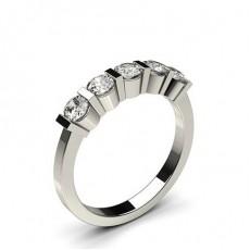 Bague 5 pierres diamant rond serti barrette - HG0618_35