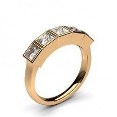 Prinzessin Rotgold 5 Diamanten