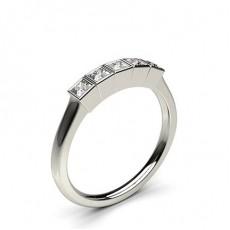 Princesse 5 Pierres Bague Diamant