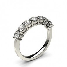 4 Prong Setting Plain Seven Stone Ring - HG0592_A29