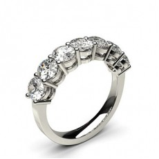 4 Prong Setting Plain Seven Stone Ring - CLRN256_01