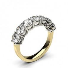 4 Prong Setting Plain Seven Stone Ring - CLRN256_01
