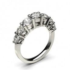 Bague 7 pierres diamant rond serti 4 griffes - CLRN258_01