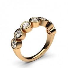 Rund Rotgold 7 Diamanten