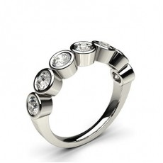 Full Bezel Setting Plain Seven Stone Ring