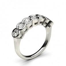 Sieben Diamanten in einer halben Zargenfassung - CLRN261_01