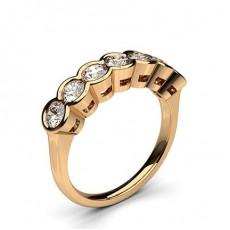 Rose Gold 7 Stone Diamond Rings