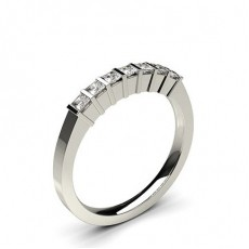 Bar Setting Plain Seven Stone Ring