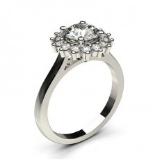 White Gold Halo Diamond Engagement Ring (Available from 0.20ct. to 3.00ct.)