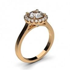 Multi Diamant Verlobungsring in einer Krappenfassung mit Schulter Diamanten - CLRN271_02