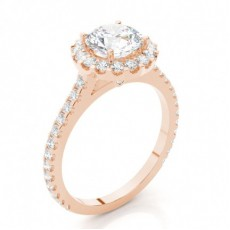 4 Prong Setting Side Stone Halo Engagement Ring - CLRN271_03
