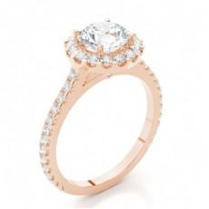Multi Diamant Verlobungsring in einer Krappenfassung mit Schulter Diamanten - CLRN271_03