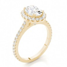 Yellow Gold Heart Halo Diamond Engagement Ring - CLRN271_09