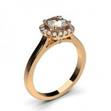Bague de fiançailles halo diamant serti 4 griffes profil poire et clos - CLRN271_08