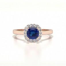 Cushion Rose Gold Halo Engagement Rings