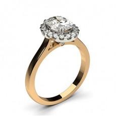 4 Prong Setting Plain Halo Engagement Ring - CLRN271_08