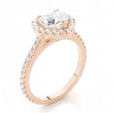 Yellow Gold Heart Halo Diamond Engagement Ring - CLRN271_09