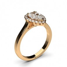 Engagement Rings Halo Rings Rose Gold