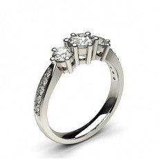 White Gold Trilogy Diamond Engagement Ring