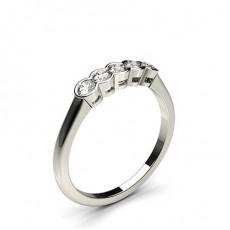 Semi Bezel Setting Plain Five Stone Ring - CLRN279_01