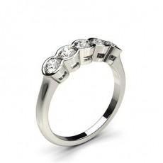 Semi Bezel Setting Plain Five Stone Ring - CLRN279_03