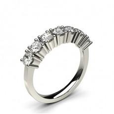 Bague 7 pierres diamant rond serti 4 griffes - CLRN284_01