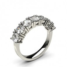 Oval White Gold 7 Stone Diamond Rings