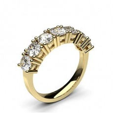 Oval Yellow Gold 7 Stone Diamond Rings