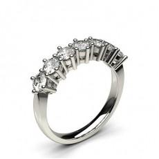 Bague 7 pierres diamant rond serti 6 griffes - CLRN285_01