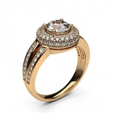 4 Prong Setting Side Stone Halo Engagement Ring - CLRN326_01