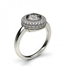 White Gold Halo Diamond Engagement Ring - CLRN331_01