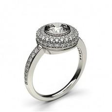 Multi Diamant Verlobungsring in einer Zargenfassung mit Schulter Diamanten - CLRN331_02
