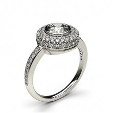 Halo White Gold Engagement Rings