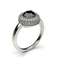 Multi schwarze Diamanten in einer Krappenfassung - CLRN332_02