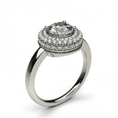 White Gold Halo Diamond Engagement Ring - CLRN332_01