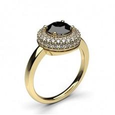 ague épaulée halo diamant noir serti 4 griffes - HG0596_61
