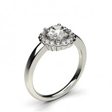 White Gold Halo Diamond Engagement Ring - CLRN333_01