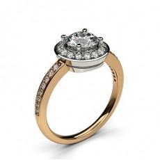 4 Prong Setting Plain Halo Engagement Ring - CLRN333_03