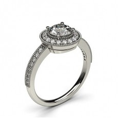 White Gold Halo Diamond Engagement Ring - CLRN333_02
