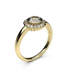 Yellow Gold Halo Diamond Engagement Ring - CLRN334_01