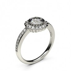 White Gold Halo Diamond Engagement Ring - CLRN334_02