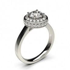 White Gold Halo Diamond Engagement Ring - CLRN335_01